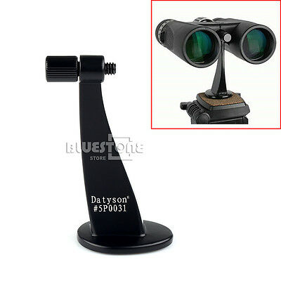 Universal Full Metal Adapter Mount Tripod Bracket for Binocular Telescope Black