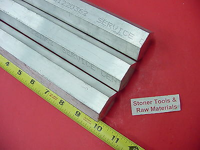 "3 Pieces HEX 1-3/8"" ALUMINUM 6061 HEX BAR 10"" long T6511 1.375 SOLID LATHE STOCK"