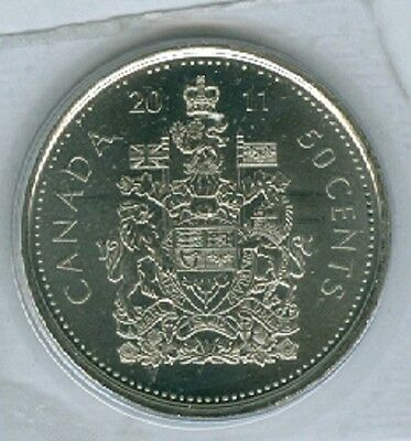 2011 Fifty Cent Half Dollar 11' Canada-Canadian BU Coin UNC RCM Mark