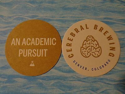 COLORADO ** An Acacemic Pursuit Beer Coaster /</> CEREBRAL Brewing Co /</> Denver