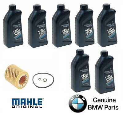7-Quarts Genuine Synthetic BMW 5w30 Motor Oil and 1 MANN Oil Filter BMW 325XI