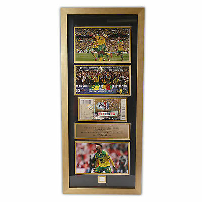 Official Norwich City Football Club Limited Edition Wembley Framed Picture