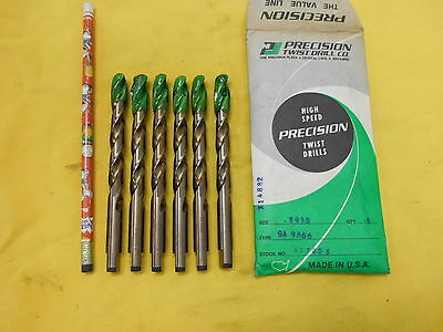 "LOT of 6 NEW .3930"" x .3810"" STEP NOSE x 5"" DRILL BITS subland PTD USA COBALT"