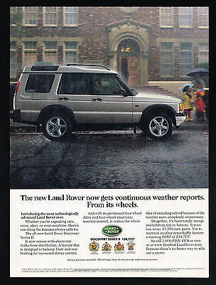 1999 Land Rover Discovery Series II SUV 4WD Photo Weather Reports Print Ad