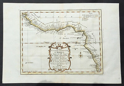 1739 Bellin Antique map of West Africa - Senegal to Cameroon