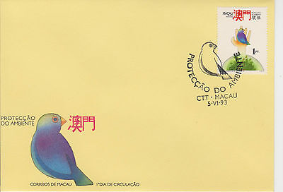 (FDC9X019) MACAU 1993 World Protect Environment Day Bird First Day Cover FDC