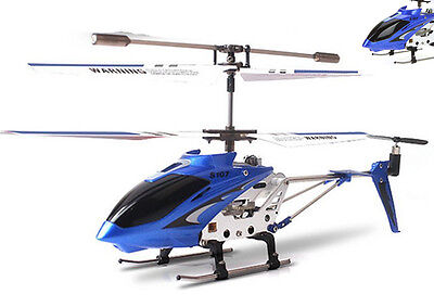 New Syma S107G 3.5 Channel RC Remote Control Helicopter Gyro Blue Free Shipping#