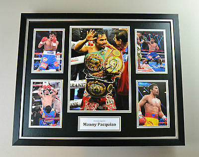 Manny Pacquiao Signed Photo Large Framed Boxing Autograph Display Memorabilia