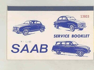 1965 Saab 96 95 850 Service Owner Coupon Booklet Protection Plan Brochure wv5632