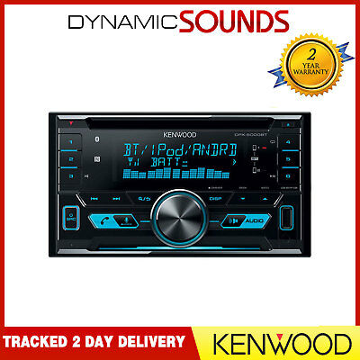 Kenwood DPX-5000BT CD MP3 Double Din Bluetooth Car Stereo USB Aux iPod iPhone
