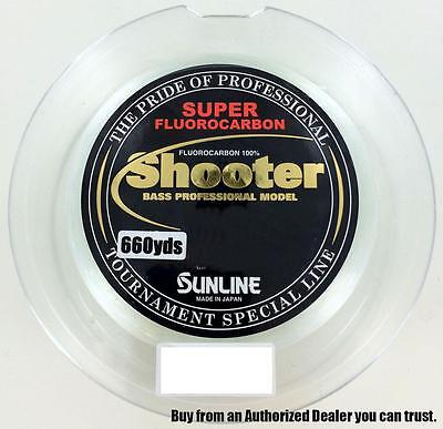 Sunline Shooter Fluorocarbon Line 660yd Spools