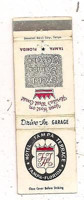 Hotel Tampa Terrace Tampa FL Hillsborough County Matchcover 011816