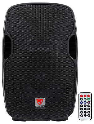 "Rockville BPA15 15"" Professional Powered Active 800w DJ PA Speaker w Bluetooth"