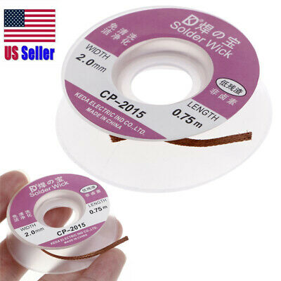 Desoldering Braid Solder Remover Wick 5 Ft. 2.0Mm New  Cp-2015 Usa 400-168