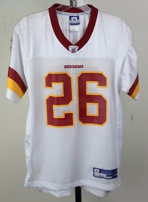 Washington Redskins White  26 Clinton Portis Youth Size Reebok Football  Jersey 15a59fcce