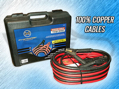 Heavy Duty 1 Gauge 25 Foot Booster/jumper Battery Cables - 800Amp - 100% Copper