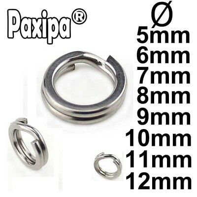 100pcs Flat Stainless Steel Fishing Split Ring Loop For Lures Hooks