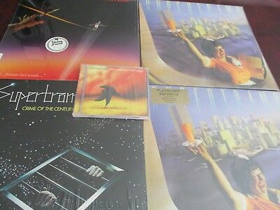 Supertramp Breakfast In America Uk 1St Deluxe + Crime O Century 180 Lps + Bonus