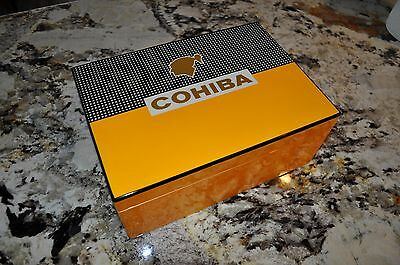 Gorgeous Piano Finished Classic Cohiba 100 Cigar Humidor Free Shipping