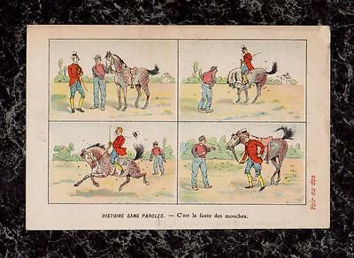 Dandy Rides Horse French Victorian Soap Trade Card La Grappe Savon Jounet