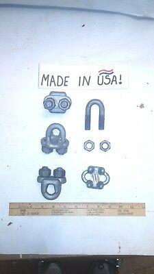 """12 pcs.of Heavy Duty 5/8"""" Chicago Drop Forged Wire Rope/Cable Clips - NEW - USA"""