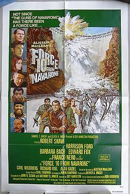 FORCE 10 FROM NAVARONE  Movie One Sheet poster.  Harrison Ford, 1978