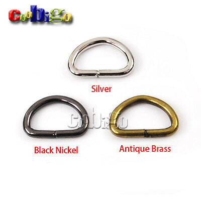 """3/8"""" Webbing Dee Ring Non Welded for Key Chain Key Ring Backpack Straps"""