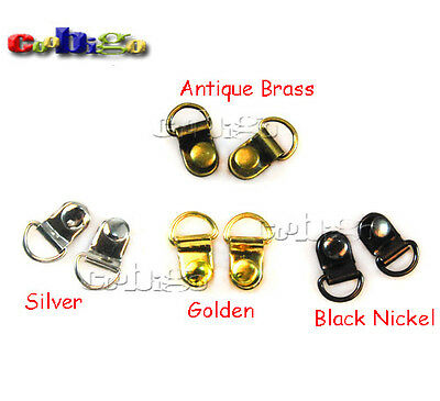 "3/8"" D-Rings Plated Shoes Picture Frame Strap Hangers Double Rivet Stud"