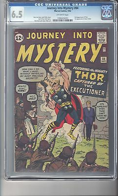 Journey Into Mystery #84 CGC 6.5 Off White Pages 2nd Appearance of Thor