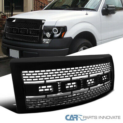 09-14 Ford F150 F-150 Pickup Raptor Style Black Front Hood Grill Grille w/ Shell