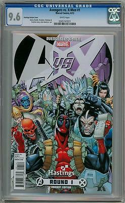 Avengers Vs. X-Men #1 Hastings Deadpool Retailer Variant Cgc 9.6 Marvel Movie