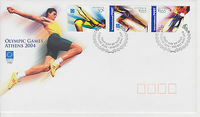 (FDC2X010) AUSTRALIA 2004 Olympic Games Athens First Day Cover FDC