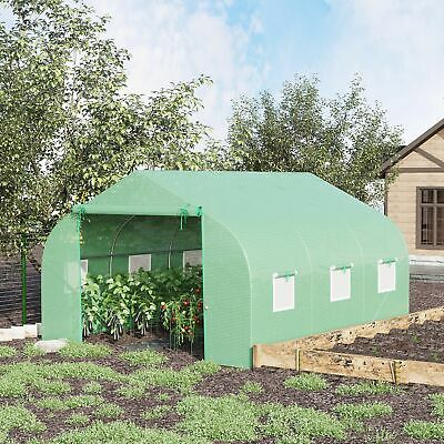 Greenhouse 12'x10'x7' Large Portable Walk-in Hot Green House Plant Gardening