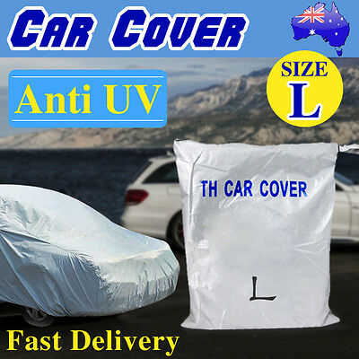 L Large Universal Full Size Car Cover Sun Resistant UV Protection Anti-Scratch