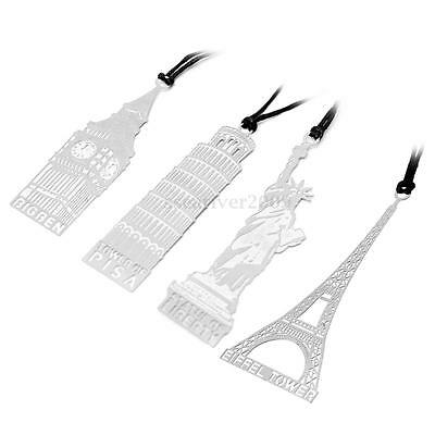 Creative Famous World Scenery Metal Bookmark Paper Document Book Marker Gifts