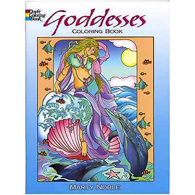 Dover Goddesses Adult Coloring Book Art Stress Relief Designs Colouring Books