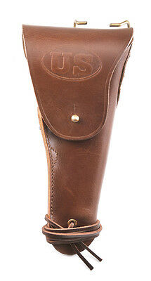 US WW2 M1916 Colt 1911 .45 Holster Marked JT&L 1942 Premium Drum Dyed Leather