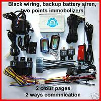 2 Way LCD Car Alarm Remote Start and Battery Backup Siren Special Price