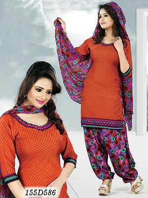Indian Pakistani Suit Bollywood Ethnic Un Stitched Designer Dress Salwar Kameez