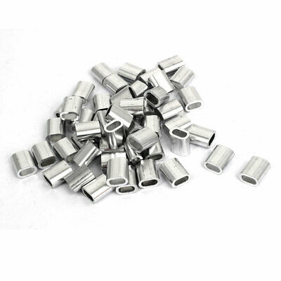 Steel Wire Rope Crimping Sleeves Clips Cable Ferrules 20 Pcs uxcell M0.8 Aluminum Oval Sleeve 1.1mm 3//64 inches
