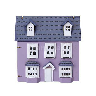 Mini Wooden Pocket Playhouse Model Play Toy 12th Dollhouse Miniature Accessories