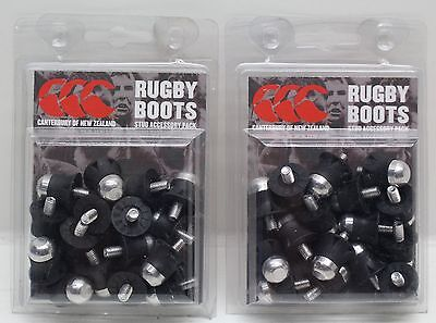 NEW 2 x Packs Of 16pcs Canterbury Lightweight Rugby Boot Stud Accessory Pack
