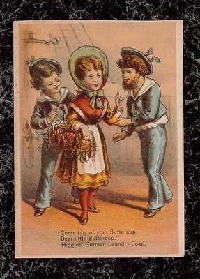 Gilbert & Sullivan Buttercup Two Sailors Higgins German Laundry Soap Trade Card