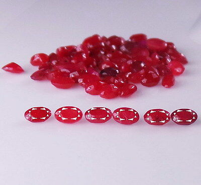 5x3mm Each Oval Natural Ruby Faceted Top Quality Loose Gemstone AAA Bestseller