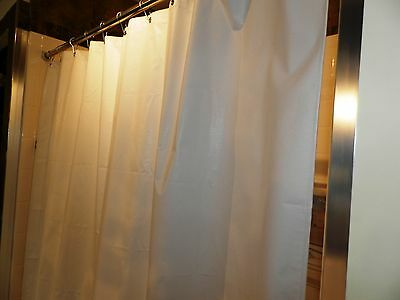 "66x74"" Heavy-Duty Vinyl Shower Curtain for 5' Anti-static, Weighted, Anti-fungal"
