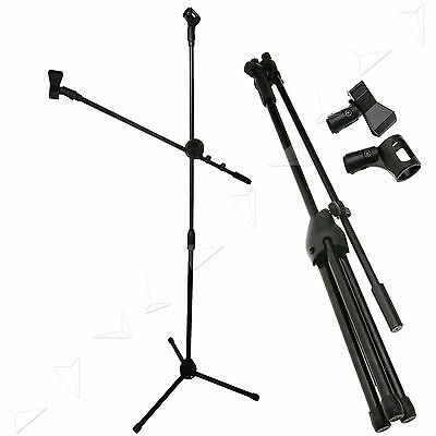 New Boom Microphone Mic Stand Holder Adjustable with 2 Clips