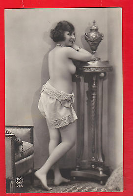 Glamour, Nudes risqué, Erotic French postcard.d