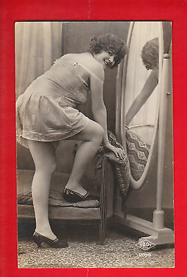 Glamour, Nudes risqué, Erotic French postcard.k