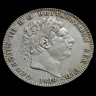 1819 George III Milled Silver LIX Crown – GVF +