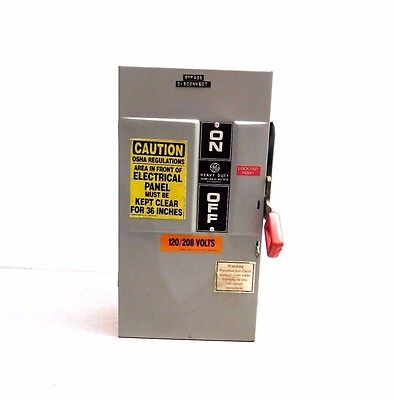 Mo-1838, Ge Th4323 Disconnect Switch. 100 Amp. 240 Vac.